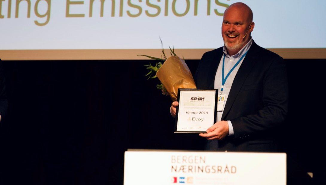 CEO i Evoy, Leif A. Stavøstrand, mottar Spir-prisen 2019