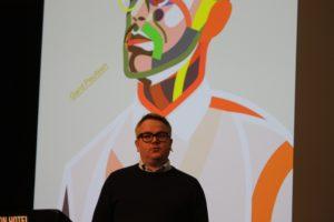 Forfatter Gard Paulsen under presentasjonen av boken Alltid Rabiat